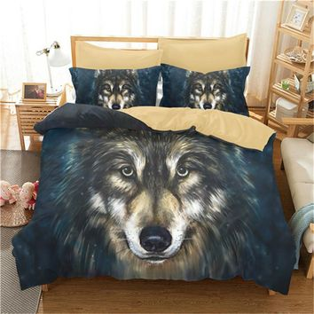 3D Painting Wolf Bedding Set Sanding Mandala Bedding Duvet Cover 3pc Include Bed Cover Pillowcase Drop Shipping