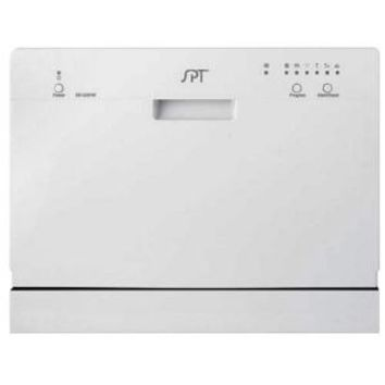 SPT, Countertop Dishwasher in White with 6 wash cycles, SD-2201W at The Home Depot - Mobile