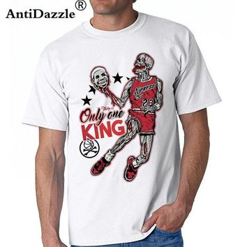 Antidazzle Michael Jordan The King Skulls Short Sleeve T-shirt