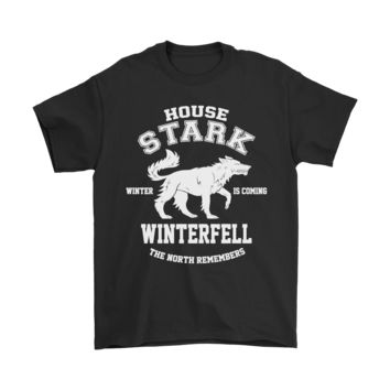 ESB8HB Game Of Thrones House Stark Winterfell The North Remembers Shirts