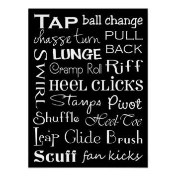 Tap Dance Subway Art Poster from Zazzle.com