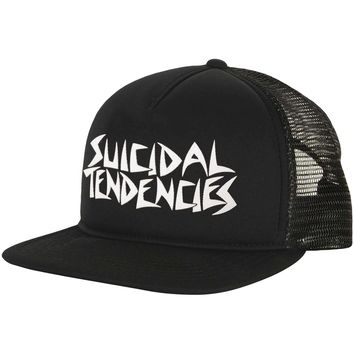 Suicidal Tendencies Men's  Suicidal Tendencies Flip Cap Trucker Cap Black