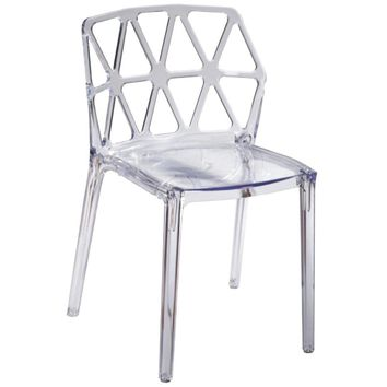 Zig Zag Dining Chair, Clear