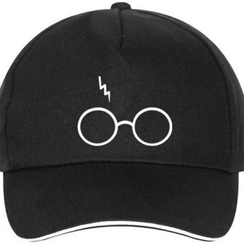 XQXON- Harry Potter Lightning Glasses Baseball caps print men women hat HH18