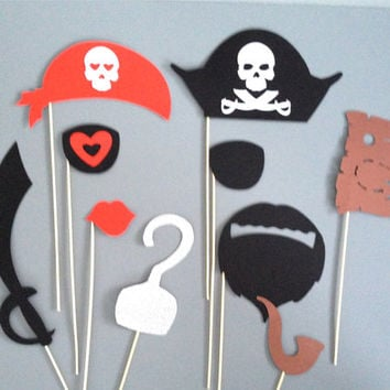 Photo Booth Props  PIRATE Photo Props Pirate Themed Party Weddings Birthday Parties Halloween Pirate Birthday Party