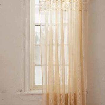 Pieced Eyelet Window Curtain - Urban Outfitters