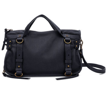 Joelle Hawkens Junket Satchel Black Leather