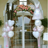 New 1 set Bride and Groom Dress Shape Foil Helium Balloons Wedding Decoration Supplies HB [7983356679]