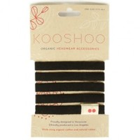 LILA Black Organic Cotton Plastic-Free Hair Ties