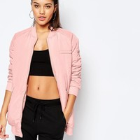 Missguided | Missguided Longline Padded Bomber at ASOS