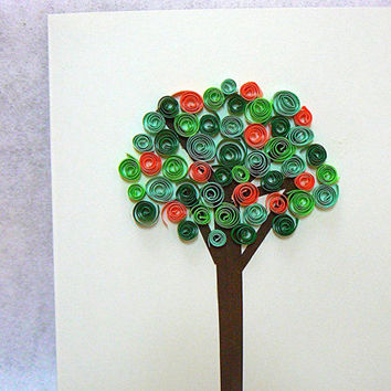 Best paper quilling greeting cards products on wanelo hand quilled paper art summer tree greeting card card all occasion hand made m4hsunfo