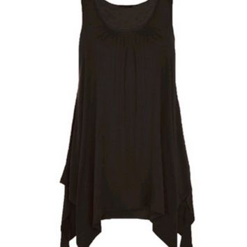 Irregular Hem Loose Tank Top  B0013937