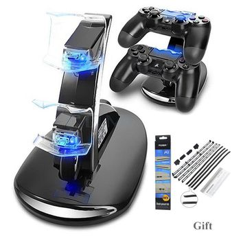 Dual PS4 Controllers Charging Dock