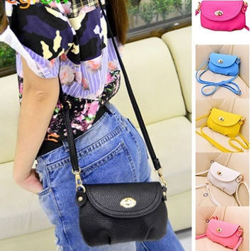 Mini Women's Candy Color Shoulder Bag Leather Crossbody Purse Tote Bags = 1841349188