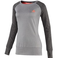 adidas Women's Ultimate Fleece Long Sleeve Crewneck Shirt
