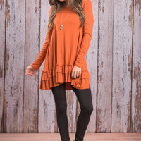 Care To Unwind Tunic, Orange