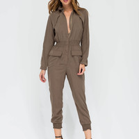 Work Hard Play Hard Utility Jumpsuit