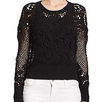 Tess Giberson - Crochet Cropped Sweater - Saks Fifth Avenue Mobile