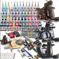 Tattoo Kit 3 Top Machine Guns 40 Color Ink Power Supply Needle Mgt26 USA Storage