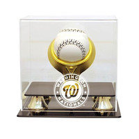 Washington Nationals MLB Single Baseball Gold Ring Display