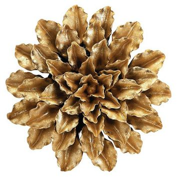 Aurora Flower Decorative Wall Sculpture - Gold