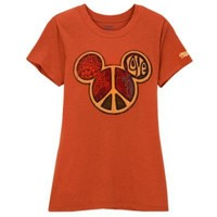 Peace Icon Mickey Mouse Tee for Women | Tees | Disney Store