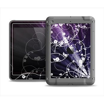 The Dark Purple Light Arrays with Glowing Vines Apple iPad Air LifeProof Nuud Case Skin Set