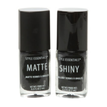 Black French Twist Nail Polish 2 Pack