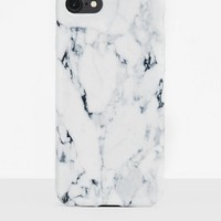 Missguided - White Marble I Phone 6 + Phone Case