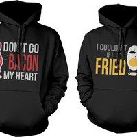 Cute Matching Couple Hoodies - Funny Bacon and Egg Couple Sweatshirts
