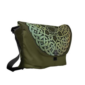 Celtic Knotwork Mandala Courier Bag