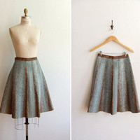 Vintage PRADA snakeskin leather full skirt by storyofthings