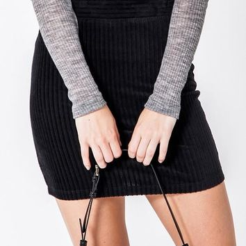 On The Town Mini Skirt - Black