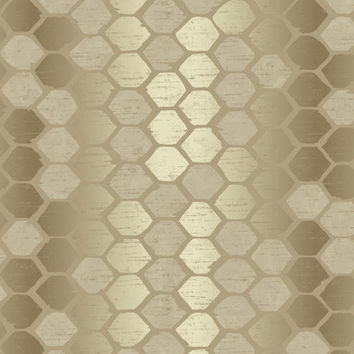 Sample of Abstract Geometric Wallpaper in Metallic - Seabrook Designs