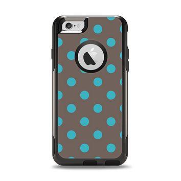 The Gray & Blue Polka Dot Apple iPhone 6 Otterbox Commuter Case Skin Set