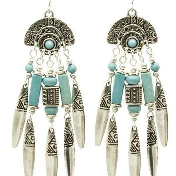 Native American Style Fringe Earrings 1988