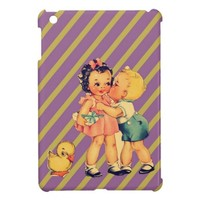 art cute retro children vintage school kids cases for iPad mini