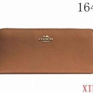 Coach Zipper Women Leather Purse Wallet-1