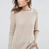 ASOS Ultimate Chunky Sweater With Crew Neck at asos.com
