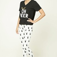 Oh Deer Graphic PJ Set