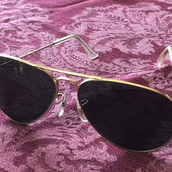 Ray Ban RB 3025 58/14 58mm Gold Vintage Dark Lens Aviator Sunglasses Luxury