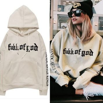 Print Long Sleeve Hoodies Winter Slim Alphabet Hats [39677984794]