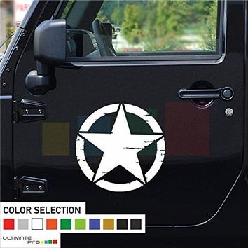 2x Stars Decal sticker Vinyl Compatible with Jeep Wrangler RUBICON