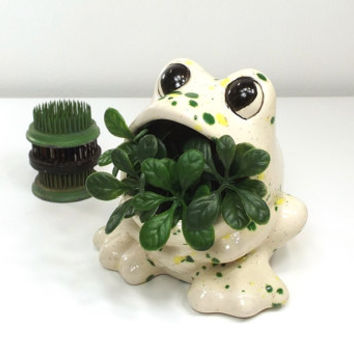 Shop vintage sponge holder on wanelo - Frog sponge holder kitchen sink ...