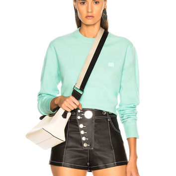 Acne Studios Nalon Face Sweater in Mint Green | FWRD