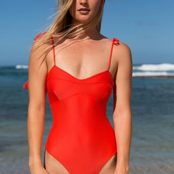 ACACIA Swimwear 2018 Ulumalu One Piece in Neon Lava
