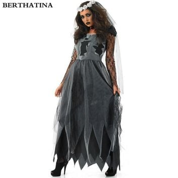 New Arrival Female Death Witch Halloween Cosplay Costume Ghost V ae1234cd4b91
