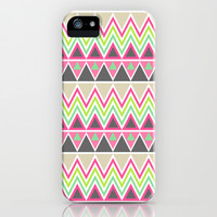 Aztec Tribal Pattern  iPhone & iPod Case by TRM Design