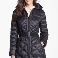 Women's Bernardo Packable Goose Down Quilted Walker Coat,