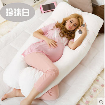 Maternity U Shaped Body Pillows; Perfect for Pregnant Women or Side Sleepers; Removable Cover